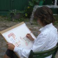 Akvarell målning