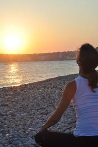 Yoga i soluppgången