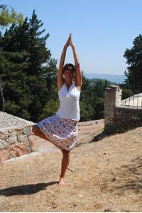 Yoga på Rhodos sommaren 2013