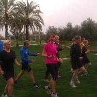 Cecilia Cicci Altheden på löpteknikträning i Turkiet